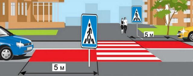 Парковка перед пешеходным переходом или на нем: штрафы и наказания