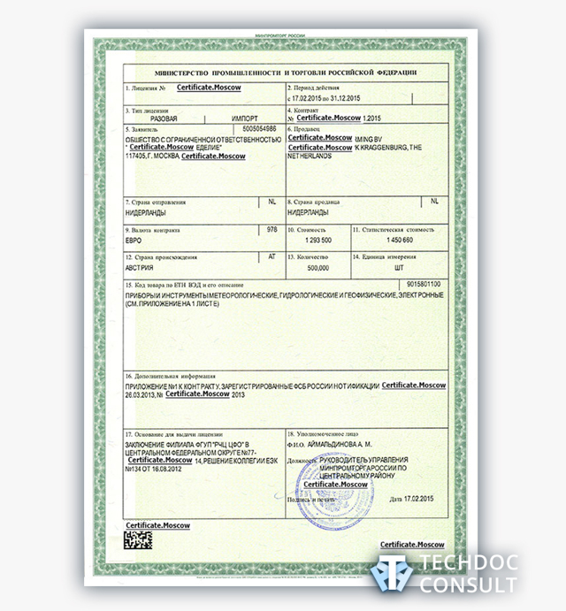 Лицензия Минпромторга: разновидности и процедура лицензирования