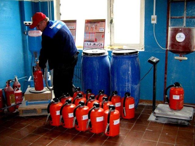 Периодичность проверки и срок годности огнетушителей